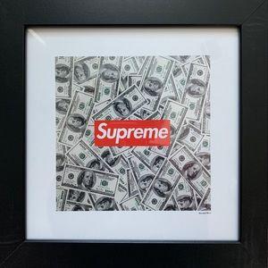 """Supreme """"Money"""" Fairchild Paris Framed Wall Art"""